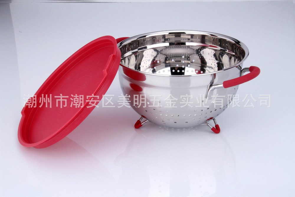 Bargain Offer Stainless Steel Fruit Basket with Cover