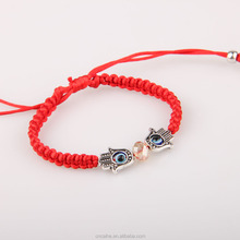new hot handmade red string rope adjustable bracelet, lucky handmade buddhist knots rope bracelet
