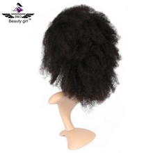 China own factory price cheap yiwu hair extension half wig good quality afro wig for south africa