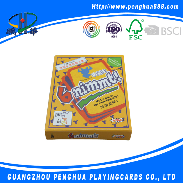 Custom printing play game card for kids
