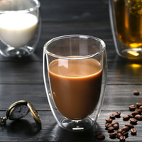 Heat-resistant borosilicate cups coffee double wall glass cup drinkware