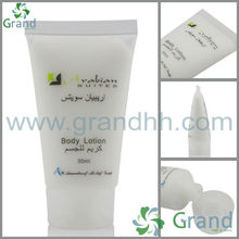 hotel bathroom amenities tube 30ml with screw cap G2406 shampoo bath gel conditioner body lotion