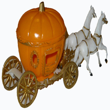 Rare White Horses&Pumpkin Cinderella Carriage Cake Stand