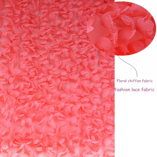 Guangzhou supplier Floral chiffon fabric for wedding dress factory price with high quality