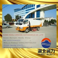 Vacuumed Type new dongfeng 4X2 road sweeper truck road sweeping truck