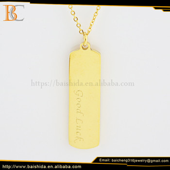 stainless steel pendant hot necklace good luck thin chain jewelry