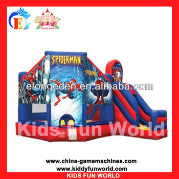 2013 new design Spider man inflatable castle bouncy castle