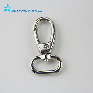 Square swivel eye snap hook with loop for purse
