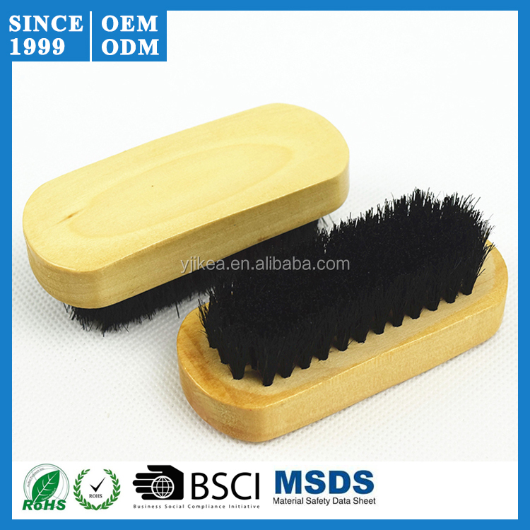 Factory Price Shoe Shine Brush with Black Pig Bristle Hair Shoe Brush