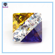 square shaped multi-color cubic zirconia jewellery