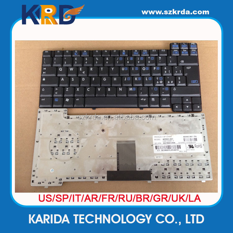 Replacement Keyboard for HP Compaq NX7440 NX7300 NC8430 NW8440 NX8420 Laptop keyboard layout