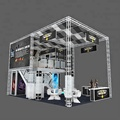 Trade show display stand truss booth double deck exhibition booth