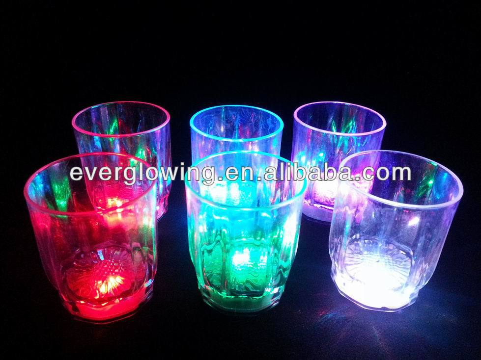 LED flash glass HOT sell 2016 for bar/night clubs