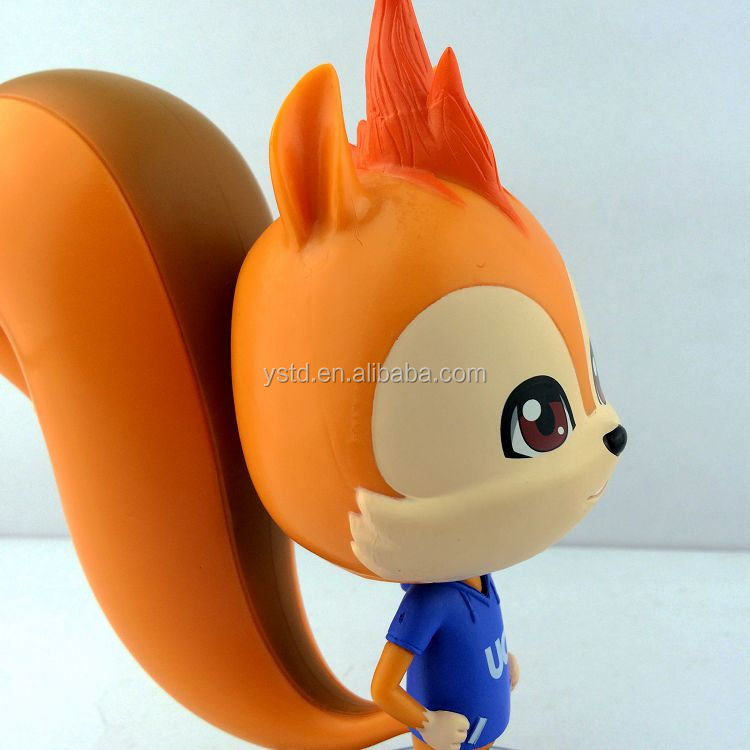 High quality custom made promotional cartoon animal shaped PVC rubber vinyl toy