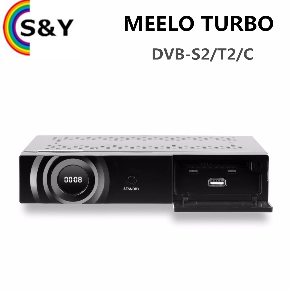 2017 Newest MEELO TURBO DVB-S2/T2/<strong>C</strong> Satellite TV Receiver <strong>1080P</strong> FULL HD Linux OS 4K Set top box MEELO TURBO better than zgemma