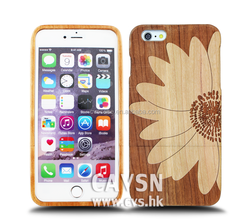 2015 Hot!! Made Of Wood Bamboo Mobile Phone Cover For Iphone 6.