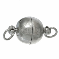 Hot Sell Magnetic Clasps Round Ball Silver Tone 20.0mm x 10.0mm10 Sets