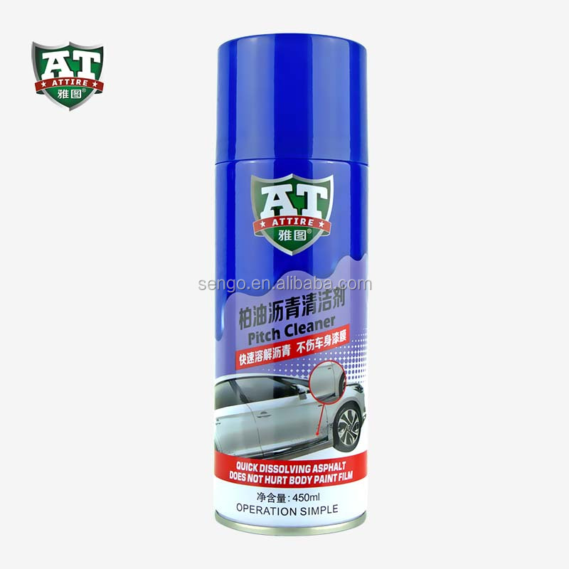 aerosol pitch cleaner for car care cleaning