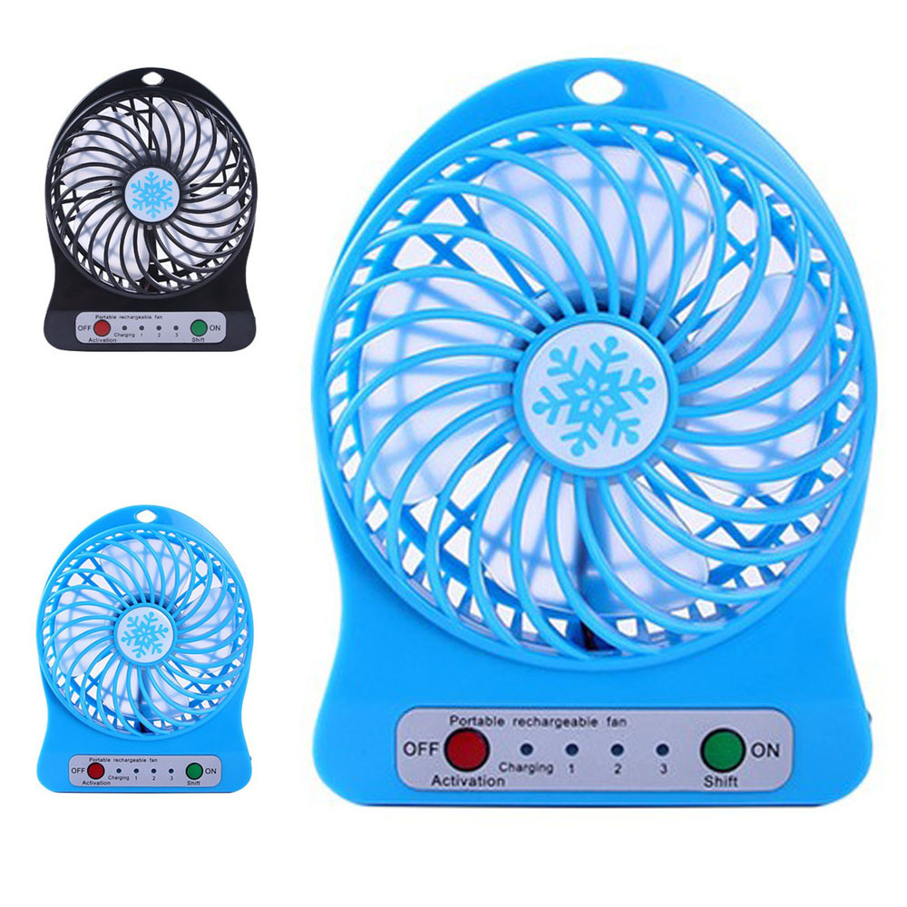 USB Mini Fan Portable desk Fans LED mini Desktop air conditioner cooling fan