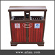 Arlau outdoor wooden recycle bin, double garbage bins,battery bin