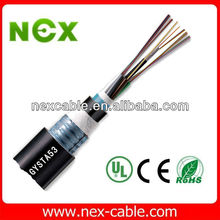 GYTA53 G652D G655 SM Outdoor Underground 48 core Armored Direct Burial Optical Fiber Cable