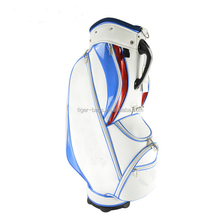 Alibaba disc outdoor caddie stand attachment PU leather custom golf bag
