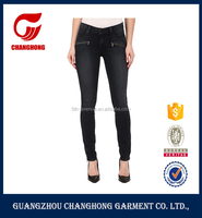 New Pattern Women Gende Black Jeans Pants With Zipper Ripped Jeans Hot Sexy Skinny Girls Tight Jeans