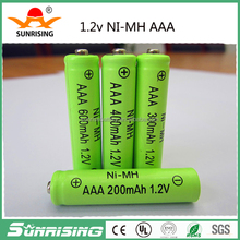 High discharge rate nimh aaa 800mah 1.2v rechargeable batteries,nimh aaa 800mah 1.2v battery/cell for