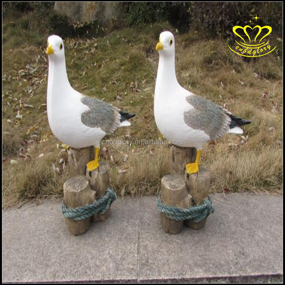 Seagull resin animal sculpture garden outdoor lawn decorations