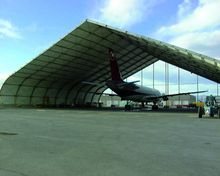 Huge Curve Tent for airplane hangar, car garage, military base