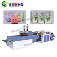 Biodegradable Cloth Patch Carry paper Polythene Garbage T-Shirt Shopping Plastic Bag Making Machine Price