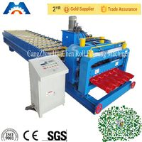 Metal Roof Step Tile Roll Forming Making Machine,Cold Galvanizing Line