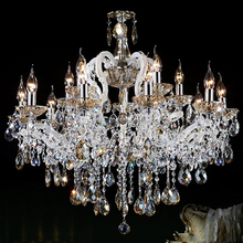 Interior Luxury Design Home Decorative Lamp White Maria Theresa Crystal Chandeliers Hanging Pendant Light Fxitures CZ6011/15