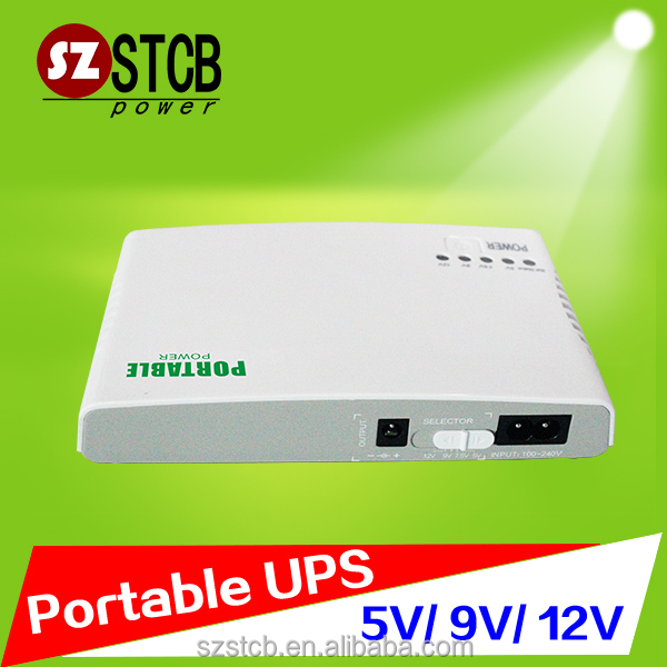 ECO mini ups 5v 9v 12v for router modem such device
