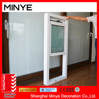 modern design upvc up and down sliding window/vinyl vertical sliding window