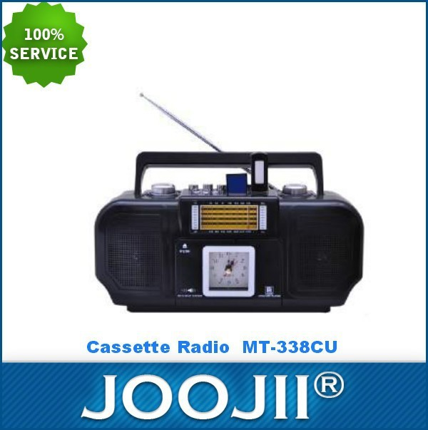 2015 New Portable 9 BAND RADIO CASSETTE RECORDER WITH EARPHONE Jack