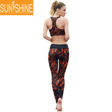 OEM Yoga Wear Red Color Workout Clothes Dry Fit Yoga Suit For Women