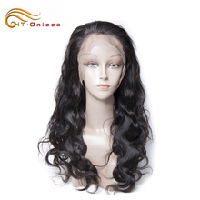 Hot sale black star micro braid weft black pearl human hair bleached knots full lace wig