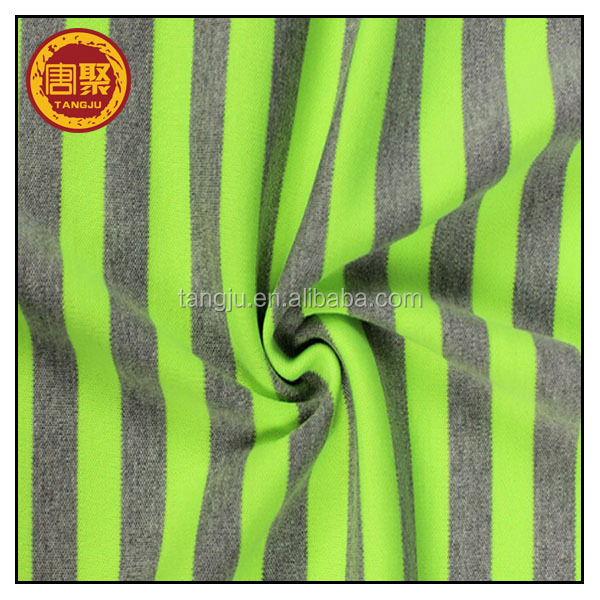 Various breathable cheap wicking thick striped fabric factory