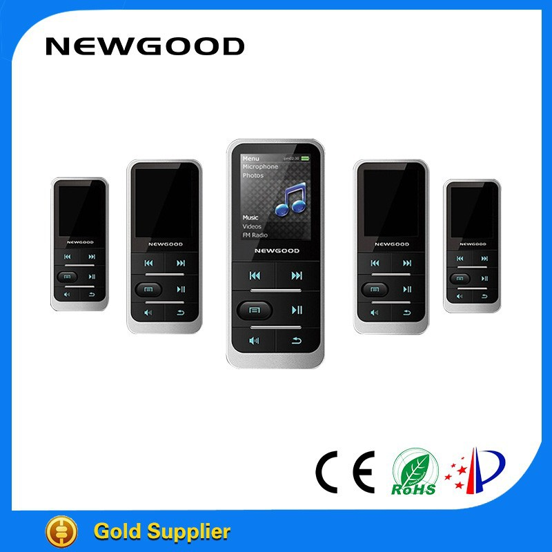 NEWGOOD hot sale super mini sport mp3 music <strong>player</strong> for jogging and running
