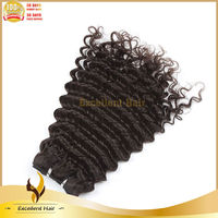 2014 Black Women Slight Wave Natural Color Double Drawn Remy High Quality Virgin 100% Brazilian Human Hair