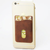brown Color of leather Sim/id/credit Card Pocket Pouch Sleeve Holder for Iphone/galaxy S/android/blackberry/windows Smartphon