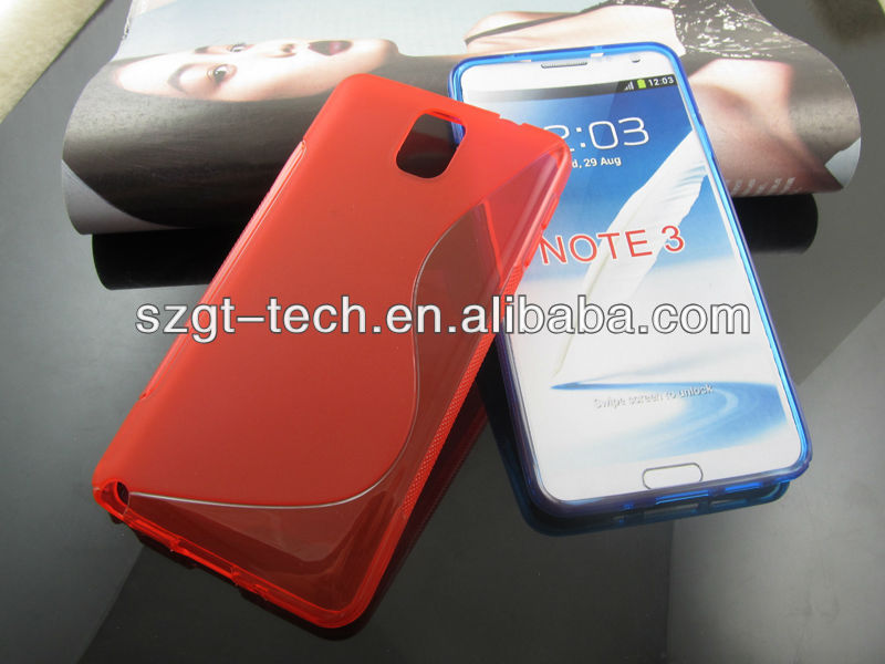 For Note 3 TPU Case! S Line TPU Case for Samsung Galaxy Note 3 N9000