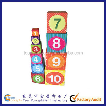 baby toys 10 numbers stack and explore blocks