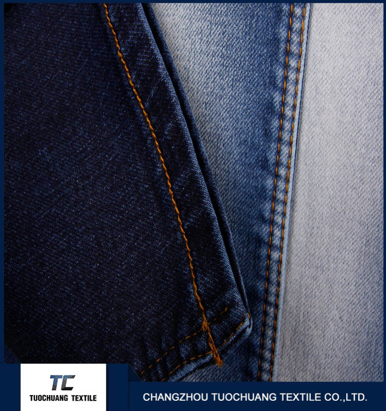 China manufacturer cotton ploy spandex denim jeans fabirc with high quality