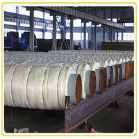 fiber glass wool material insulated steel pipe jacket steam insulated steel pipe for oil steam