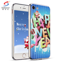 Christmas 2017 Electroplating soft matte tpu sublimation bumper case for iphone7 tpu case for iphone 7 8 10 X