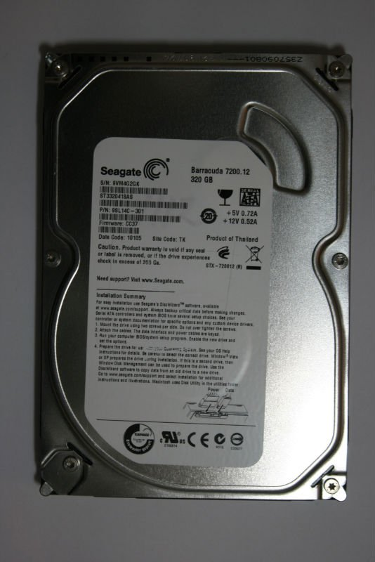 "Second Hand sata hdd 3.5"" 320g"