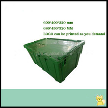 stackable storage plastic box with lid for logistics transportion alibaba china