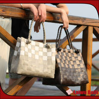 2014 handmade woven latest design women's handbags